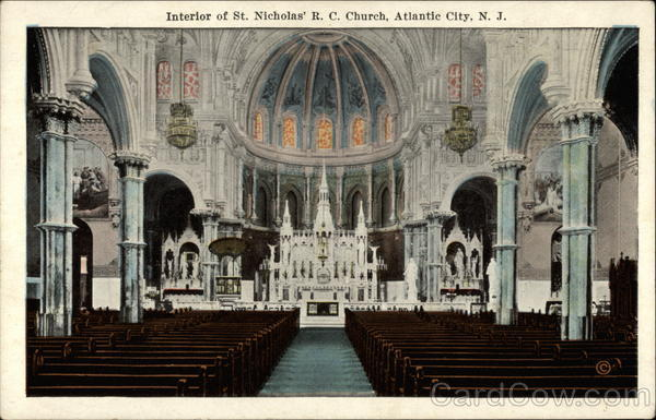 Interior of St. Nicholas' R. C. Church Atlantic City New Jersey