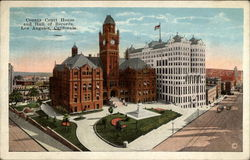 County Court House and Hall of Records Postcard