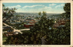 View of Mineral Wells from Mt. Mineral Wells