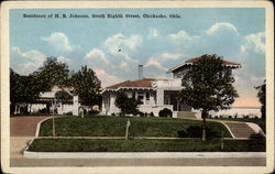 Residence of H. B. Johnson, South Eighth Street Postcard