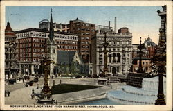 Monument Place, Northeast From Market Street Postcard