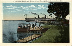 Cleveland, Detroit and Toledo Steamer Landing