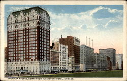 Michigan Avenue, North From Blackstone Hotel Postcard