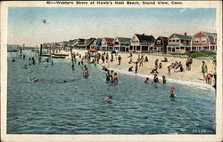 Western Shore at Hawk's Nest Beach Postcard