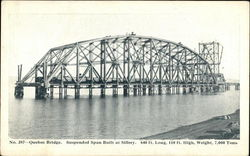 Quebec Bridge, Suspended Span Built at Sillery