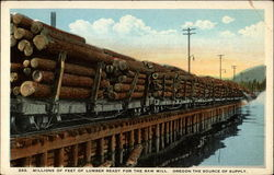 Millions of Feet of Lumber Ready for the Saw Mill
