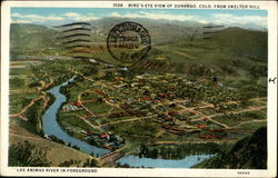 Bird's eye view of Durango, Colo. from Smelter Hill
