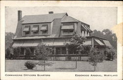 Commanding Officers Quarters, Edgewood Arsenal Postcard