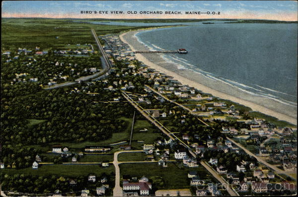 Bird's-Eye View Old Orchard Beach Maine