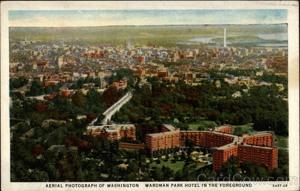 Aerial Photograph of Washington Wardman Park Hotel in the Foreground District of Columbia