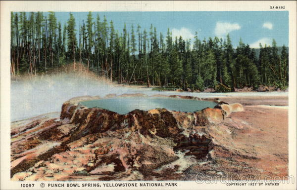 Punch Bowl Spring Yellowstone National Park Wyoming