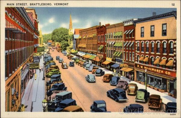 Main Street, Looking North Brattleboro, VT