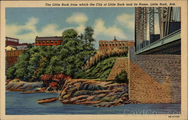 The Little Rock from which the City of Little Rock took its name Arkansas
