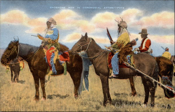 Shoshone Men in Ceremonial Attire Native Americana