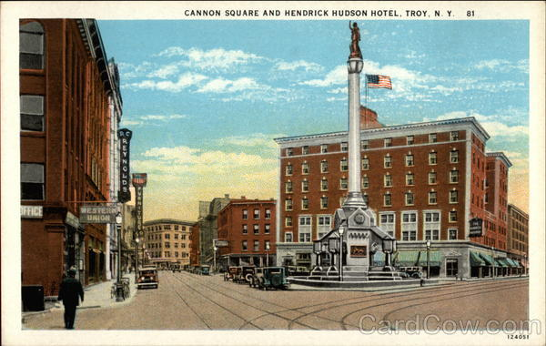 Cannon Square And Hendrick Hudson Hotel Troy New York