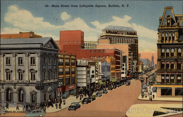 Main Street From Lafayette Square Buffalo New York
