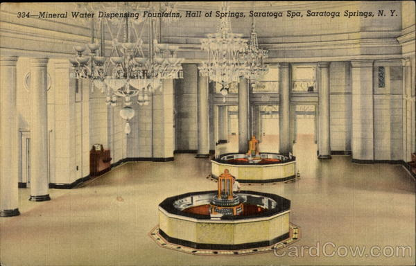 Mineral Water Dispensing Fountains, Hall of Springs, Saratoga Spa Saratoga Springs New York