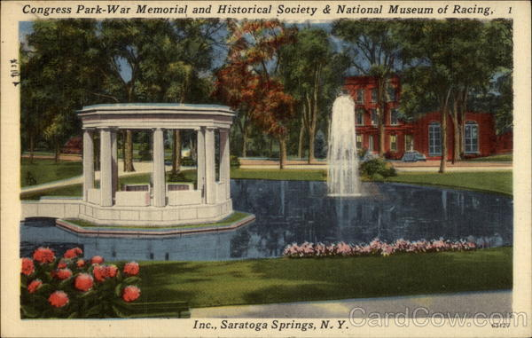 Congress Park - War Memorial and Historical Society & National Museum of Racing, Inc Saratoga Springs