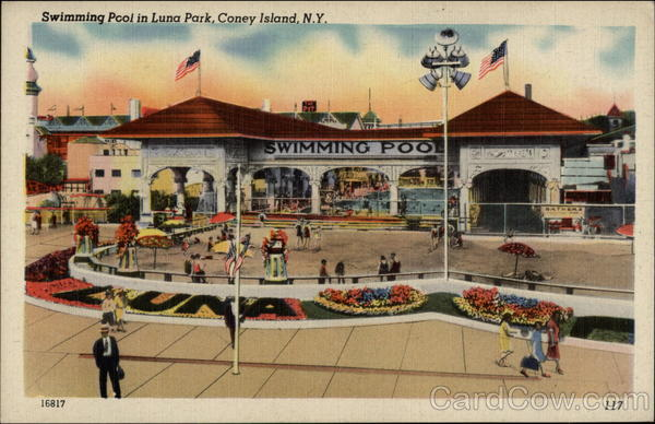 Swimming Pool in Luna Park Coney Island New York