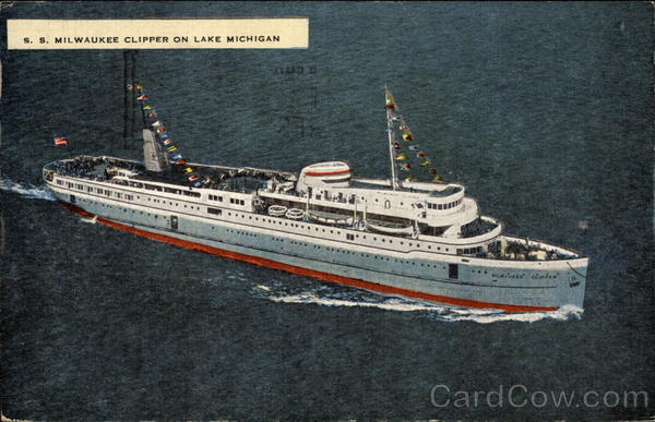 S. S. Milwaukee Clipper on Lake Michigan Boats, Ships