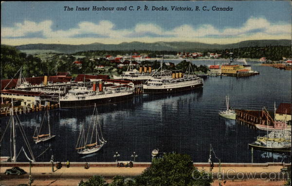 The Inner Harbour and C.P.R. Docks Victoria Canada