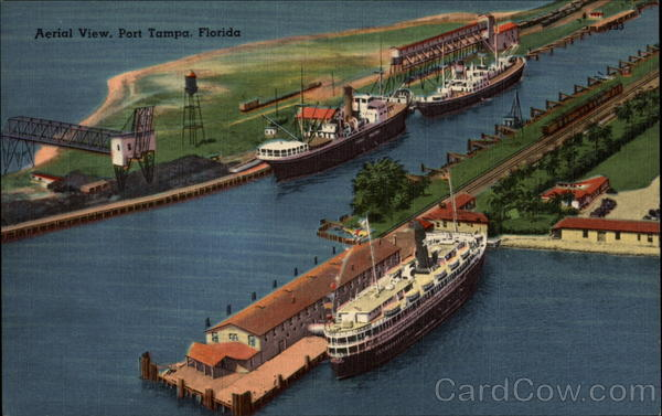 Aerial View Port Tampa Florida