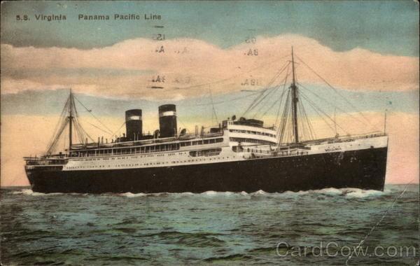 S.S. Virginia, Panama Pacific Line Boats, Ships