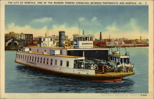 The City of Norfolk Ferry Virginia Ferries