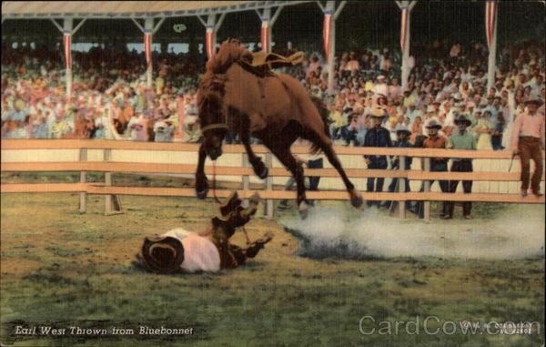 Earl West Thrown from Bluebonnet Rodeos