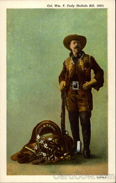 Col. Wm. F. Cody (Buffalo Bill, 1895) Cowboy Western