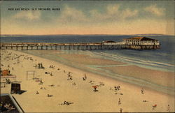 Pier and Beach Postcard