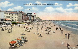 Bathers at Old Orchard Beach Postcard