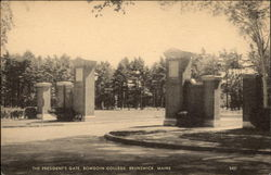 The President's Gate, Bowdoin College