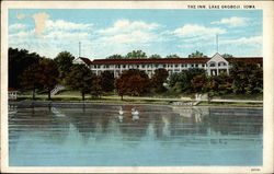 Lake Okoboji, beach and inn