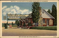 Best Cottages and Dining Room on U. S. 1 Postcard