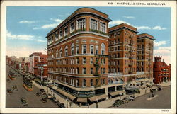 Monticello Hotel, looks like flat-iron building