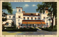 Ozark Baths - C.M. King, Mgr. Operated under Supervision of U.S. Government