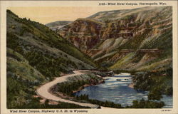 Wind River Canyon, Highway U.S. 20, in Wyoming