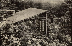 Woodfin Cabin at Long Trail Lodge (b&w photo)
