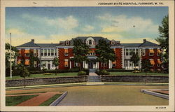 Fairmont State Hospital, from street, colorized