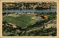 Aerial View of Stadium and Grand Stand at Carson Park
