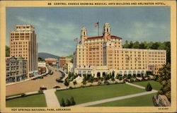 Central Avenue Showing Medical Arts Building and Arlington Hotel
