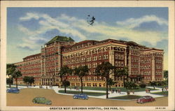 Greater West Suburban Hospital Postcard
