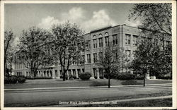 Senior High School, black & white exterior