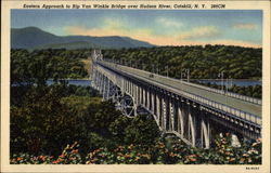 Eastern approach to Rip Van Winkle Bridge over Hudson River