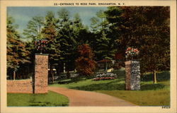 Entrance to Ross Park Postcard