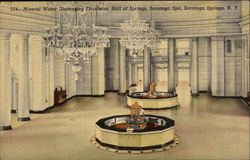 Mineral Water Dispensing Fountains, Hall of Springs, Saratoga Spa