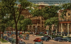 Broadway Saratoga Springs, Grand Union Hotel and Rip Van Dan Hotel