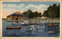 The Casino and Bathing Beach, Bemus Point on Chautauqua Lake