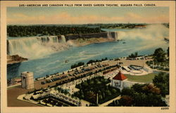 American and Canadian Falls from Oakes Garden Theatre